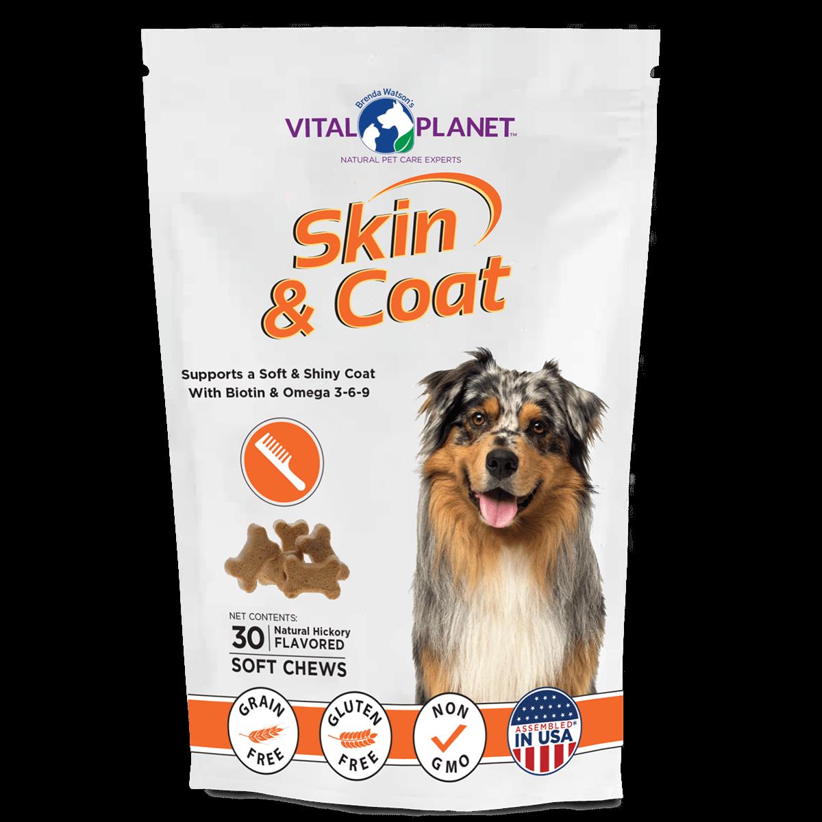 Skin Coat Dog Soft Chews Front