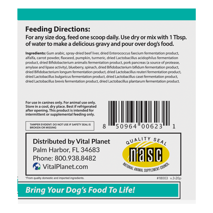 Living Meal Dog Right Panel