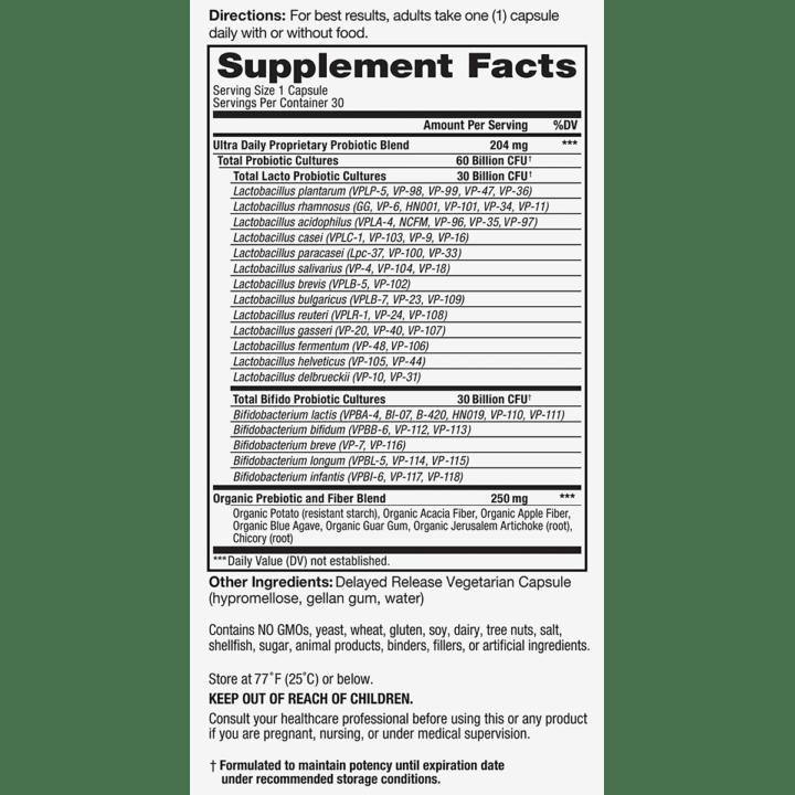 Vital Flora Ultra Supplement Facts
