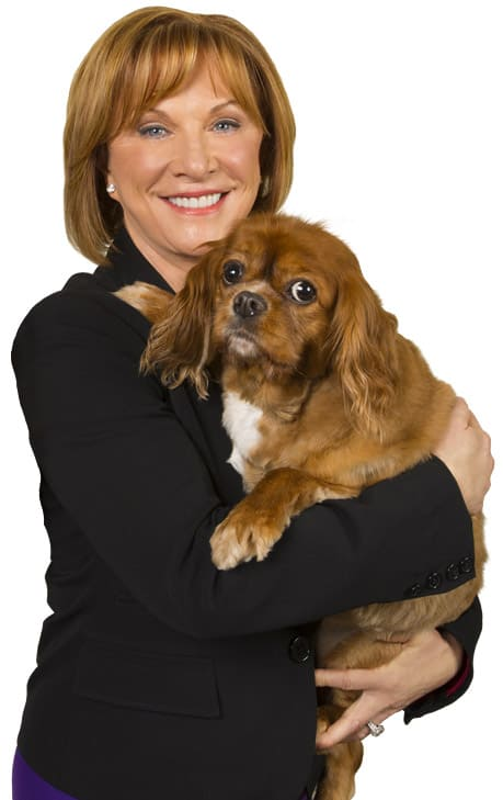 Brenda Watson, Founder of Vital Planet and her dog Maggie