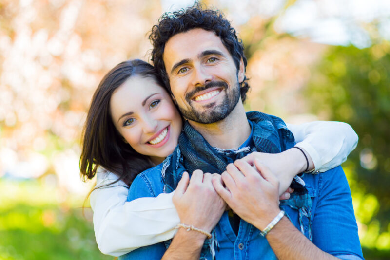 Couple having fun outdoors