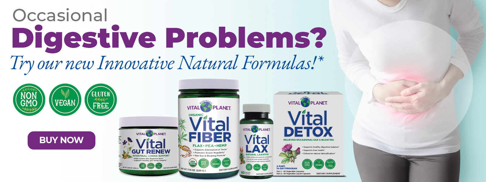 Occasional Digestive Problems? Try out new innovative natural formulas