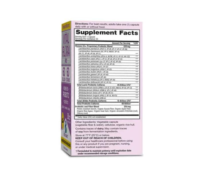 vital flora womens 55+ probiotics supplement facts