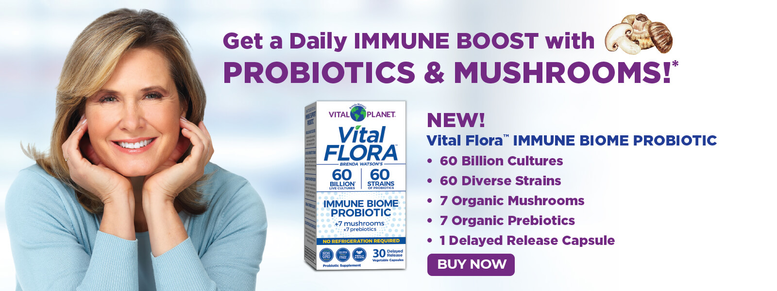 Immune Boost Probiotics and Mushrooms
