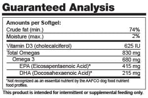Alaskan Omega-3 Guaranteed Analysis