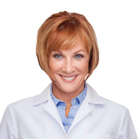 Brenda Watson in lab coat