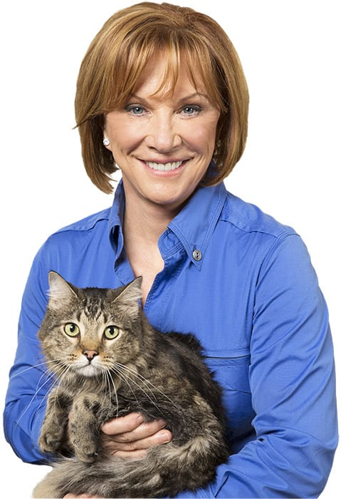 Brenda Watson with her cat