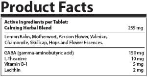 Calm Tablets Product Facts